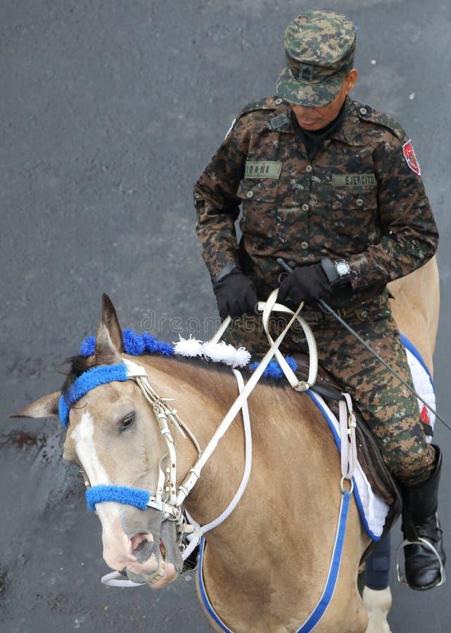 Celebrazioni militari di festa dell'indipendenza, San Salvador fotografia stock libera da diritti