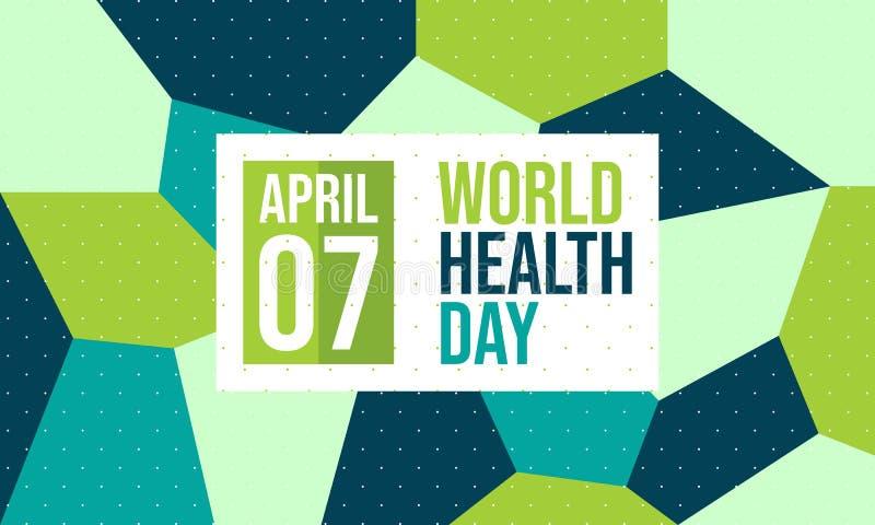 Celebre el día de salud de mundo - vector libre illustration