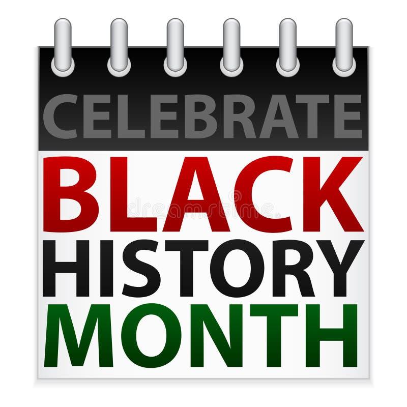 Celebre el icono negro del mes de la historia ilustración del vector