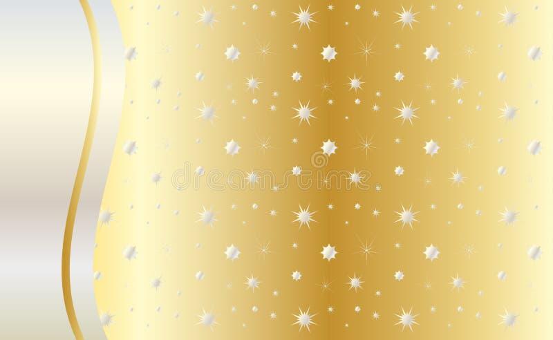 Celebre el vector del fondo del oro ilustración del vector