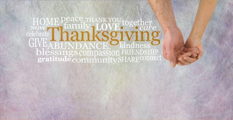 Celebre la acción de gracias junto fotografía de archivo libre de regalías