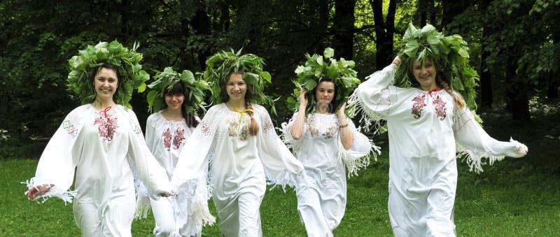 Celebri una festa pagana antica di Midsummer_3 immagine stock libera da diritti