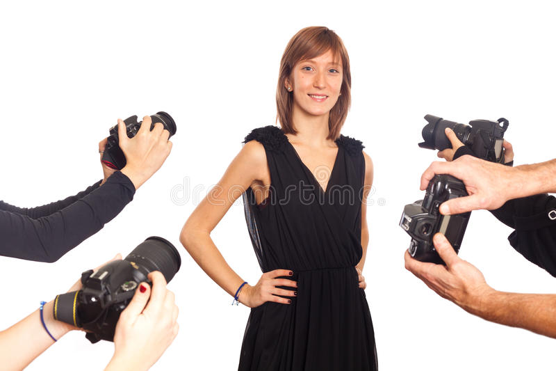 Celebridad de la mujer joven fotografía de archivo libre de regalías