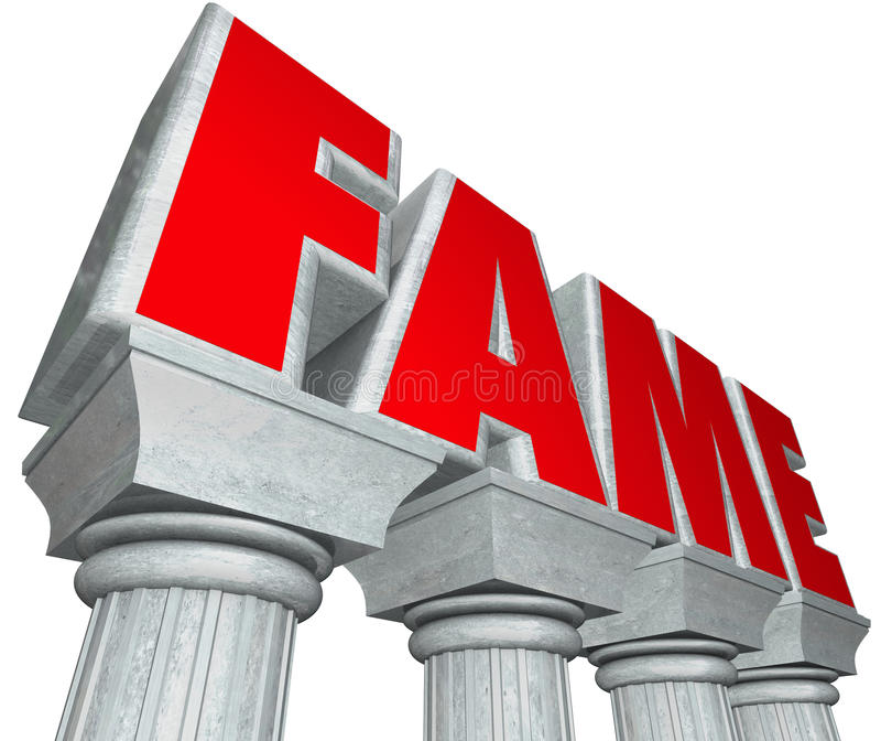 Celebridad famosa del renombre de las columnas de mármol de la fama libre illustration