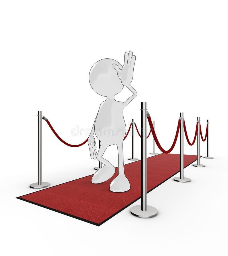 Celebridade dos desenhos animados ilustração royalty free