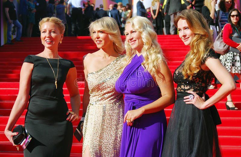 Celebrities at Moscow Film Festival stock photography