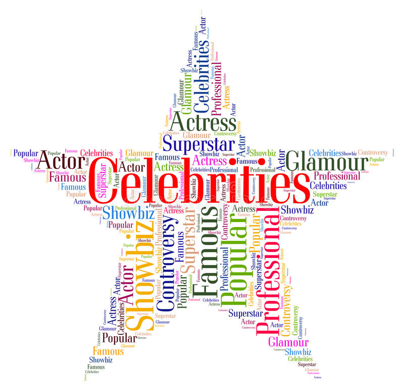 Free Celebrities Star Means Notorious Renowned And Celebrity Royalty Free Stock Photos - 55984378