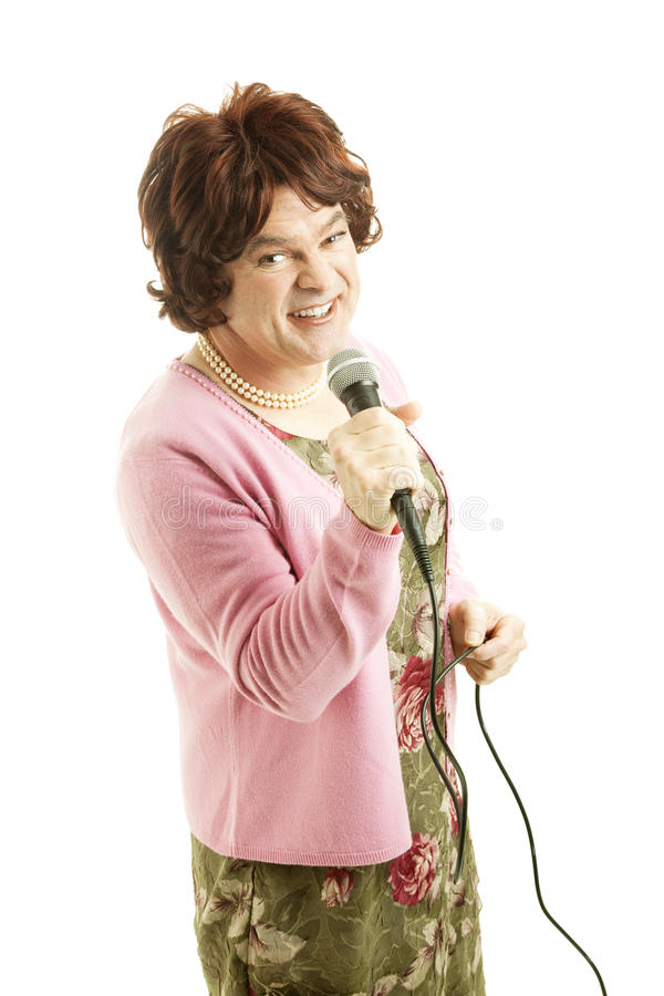 Celebrity Female Impersonator stock photos