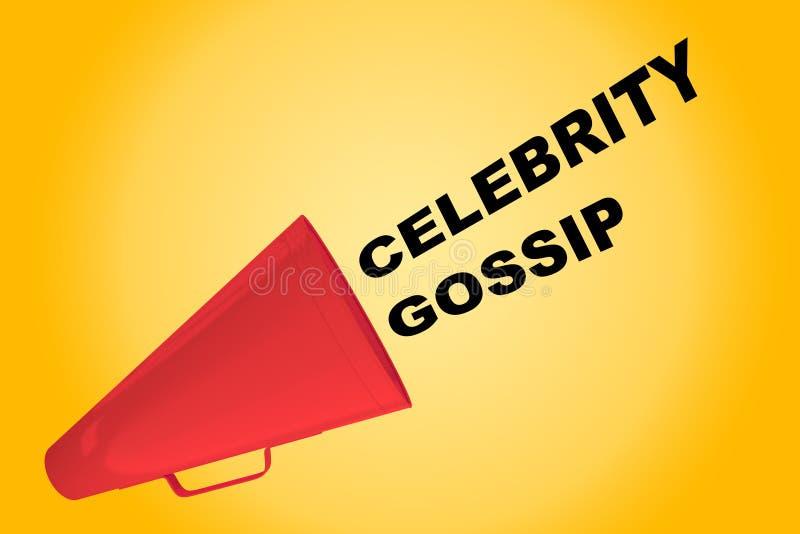 Celebrity Gossip concept royalty free illustration