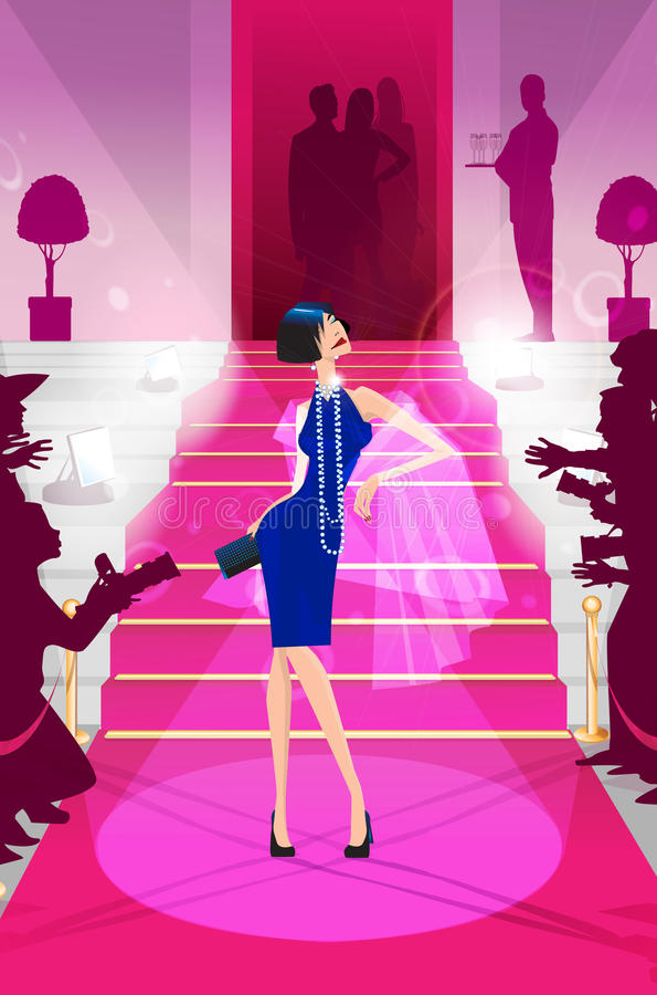 Download Celebrity On The Red Carpet Illustration Stock Illustration - Illustration: 12984086