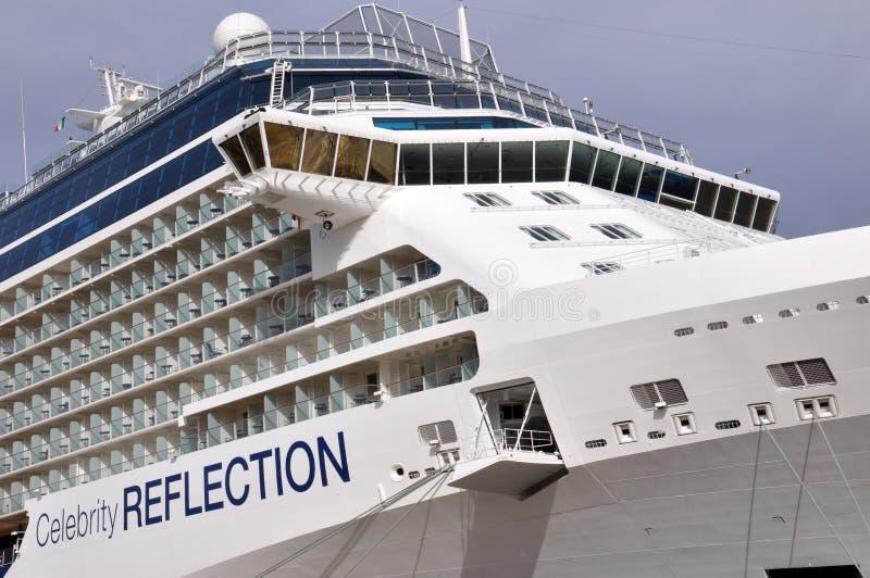 Celebrity Reflection bridge. Cruise ship Celebrity Reflection bridge stock photography