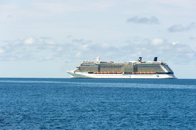Celebrity Reflection cruise ship royalty free stock photography