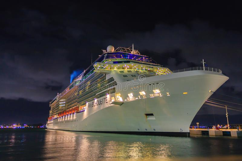 Celebrity Silhuette docked in San Juan stock photos