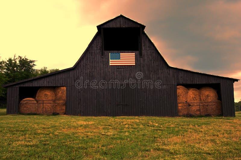 Celeiro americano fotografia de stock