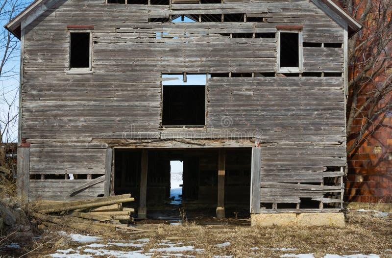 Celeiro de madeira velho fotografia de stock