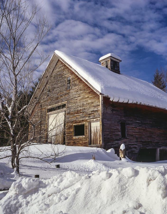 Celeiro de Maine fotografia de stock
