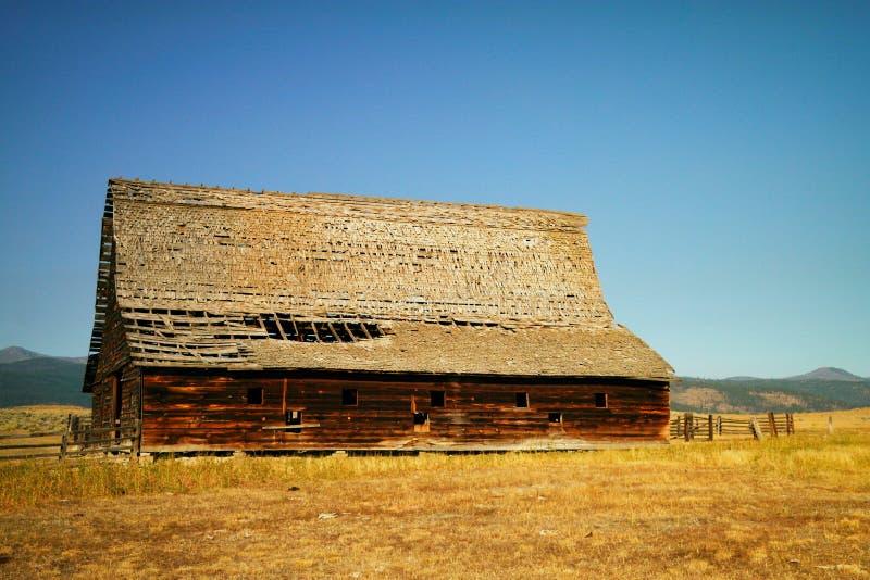 Celeiro de Montana fotografia de stock