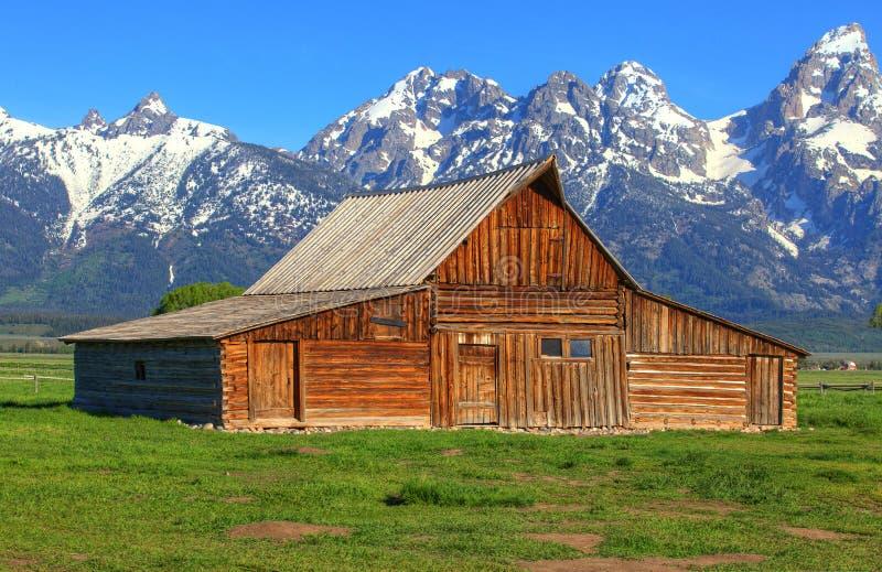 Celeiro de Moulton em Wyoming fotografia de stock royalty free