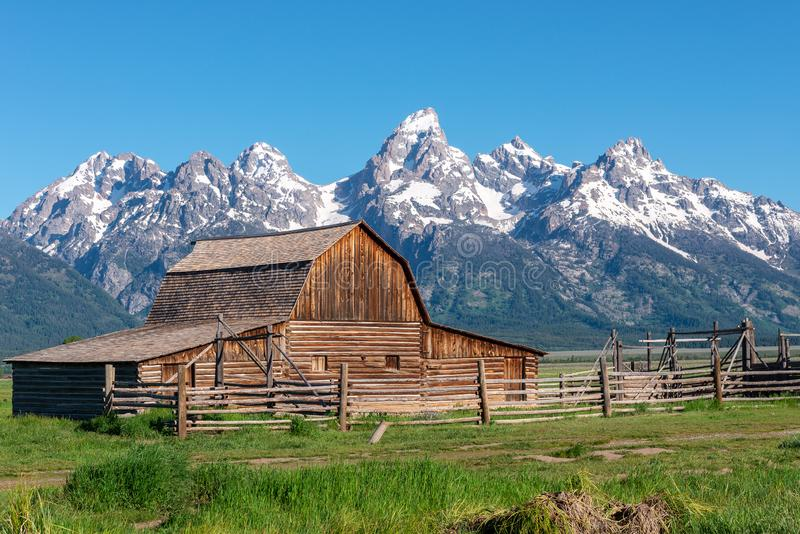 Celeiro de Moulton no parque nacional grande de Teton, Wyoming imagem de stock royalty free