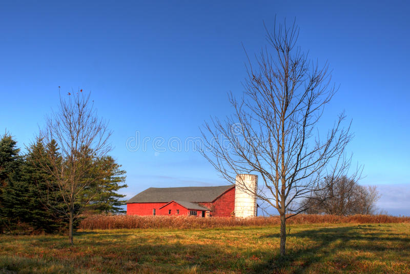 Celeiro de Nova Inglaterra foto de stock