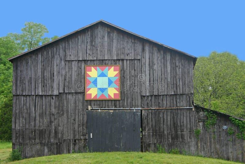 Celeiro do Quilt de Kentucky foto de stock