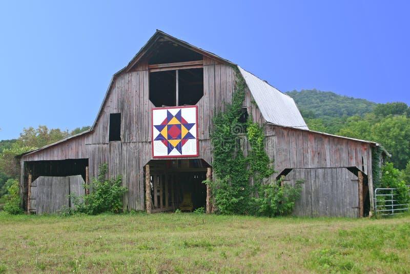 Celeiro do Quilt em Tennessee imagem de stock royalty free