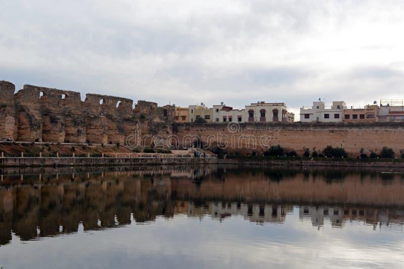 Celeiro dos €™s de Moulay Ismailâ e estábulos imensos, Heri es-Souani em Meknes, Marrocos imagem de stock royalty free