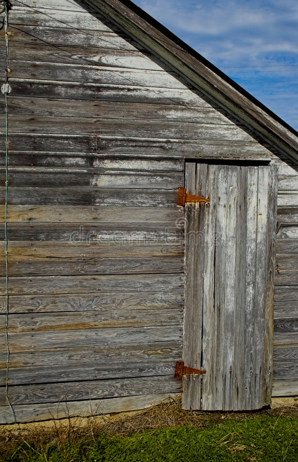 Celeiro e porta lateral imagens de stock