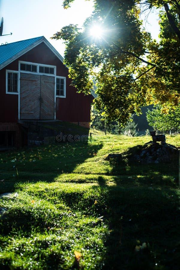 Celeiro finlandês tradicional velho foto de stock royalty free