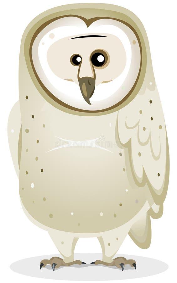 Celeiro Owl Character dos desenhos animados ilustração stock