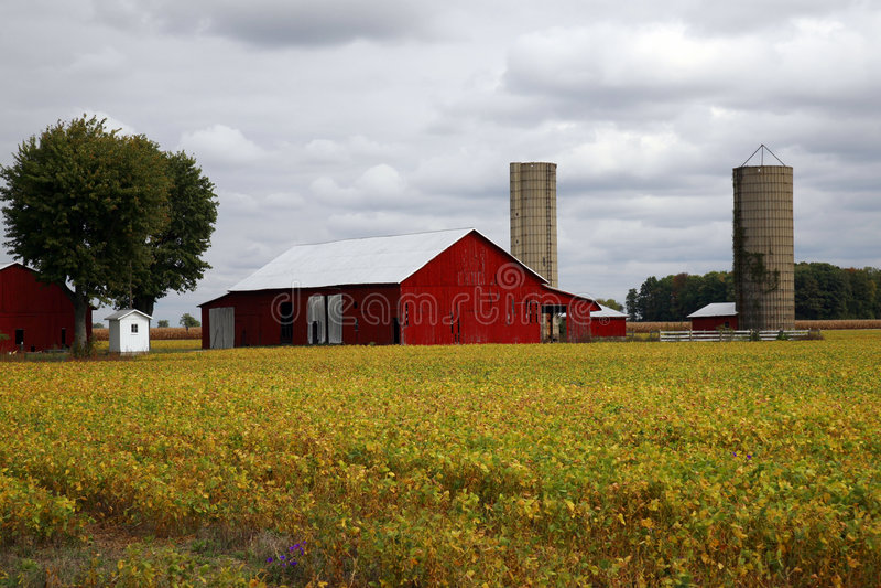 Celeiro rural Tennessee imagens de stock