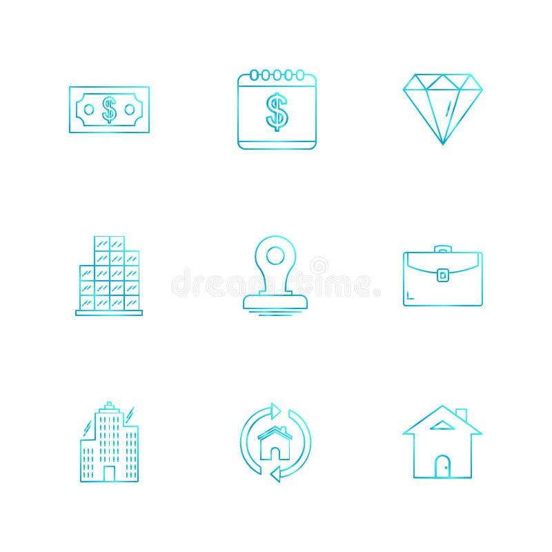 celender, доллар, цель, вахта, диаграмма, мышь, se значков eps иллюстрация вектора