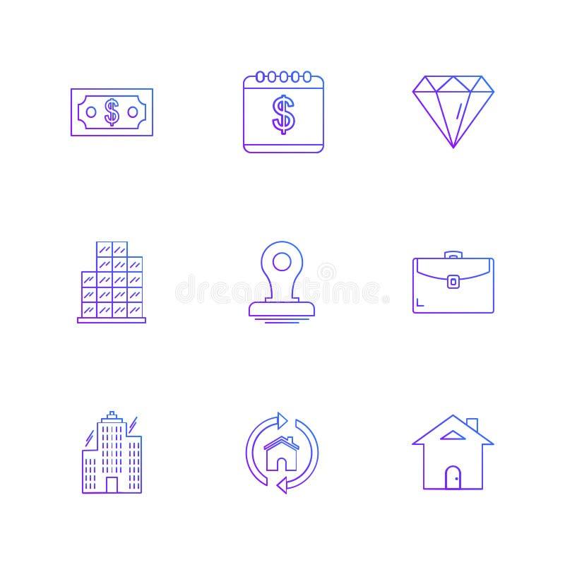 celender, доллар, цель, вахта, диаграмма, мышь, se значков eps иллюстрация штока