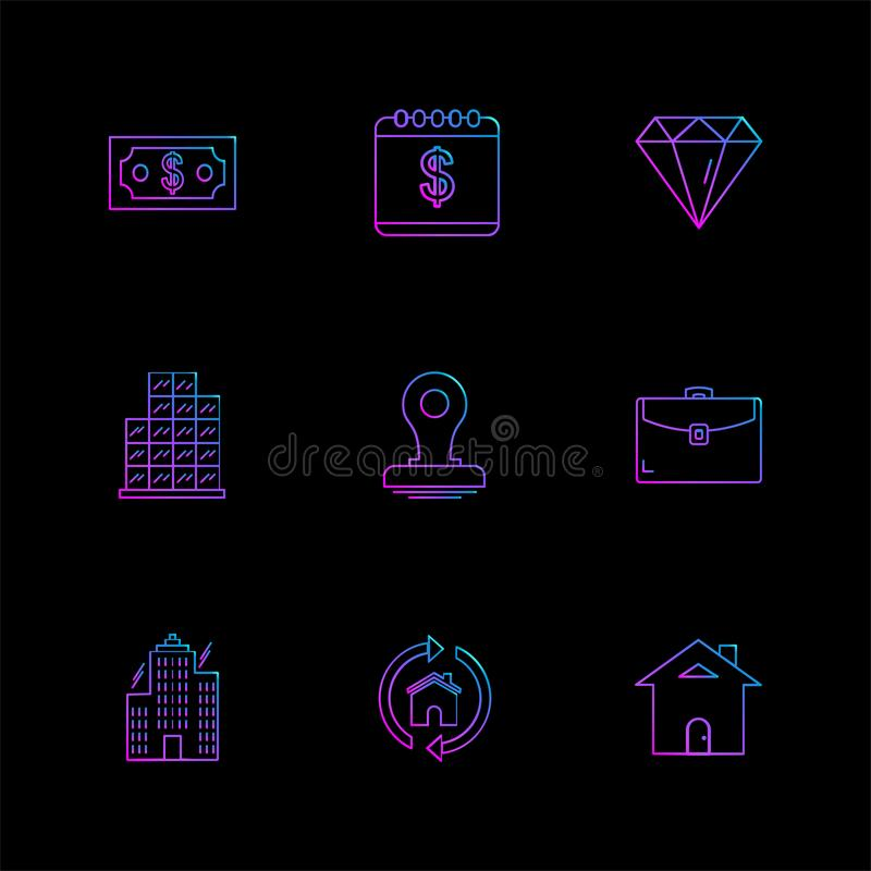 celender, доллар, цель, вахта, диаграмма, мышь, se значков eps бесплатная иллюстрация