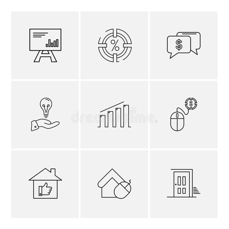 celender , dollar, target, watch , graph , mouse , eps icons se royalty free illustration