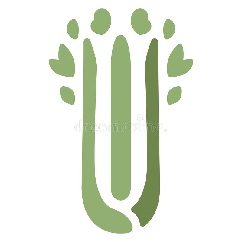 Celery Flat Icon. Green Celery icon in flat color design vector illustration royalty free illustration
