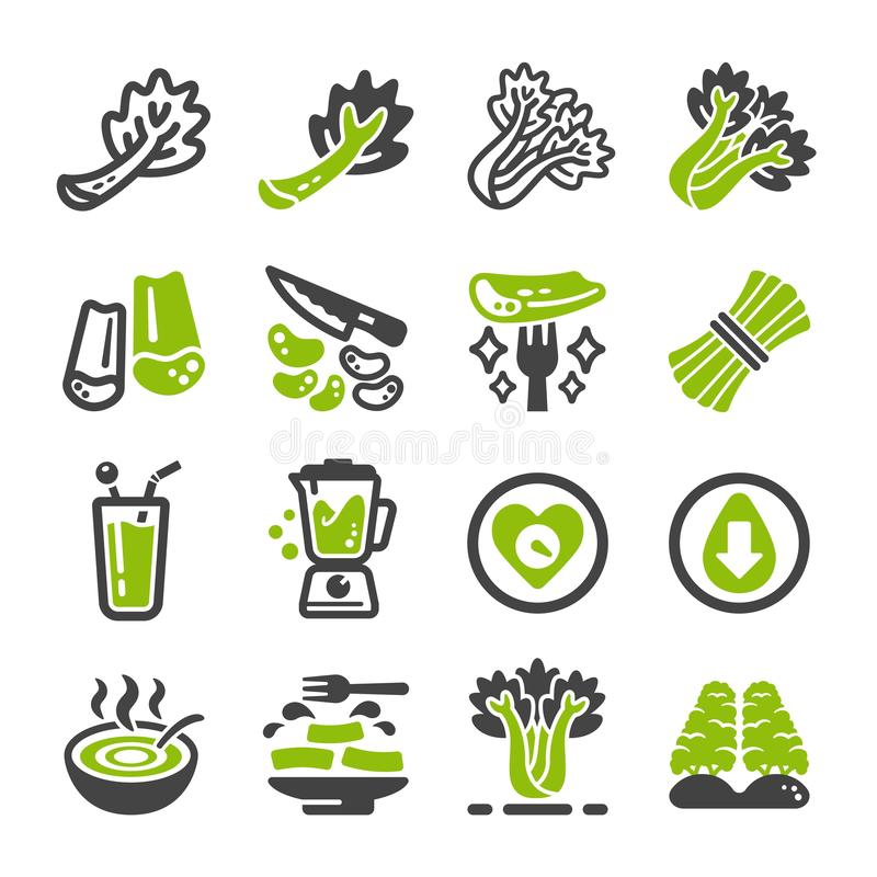 Celery icon set. Celery and produce icon set,vegetable icon,vector and illustration stock illustration