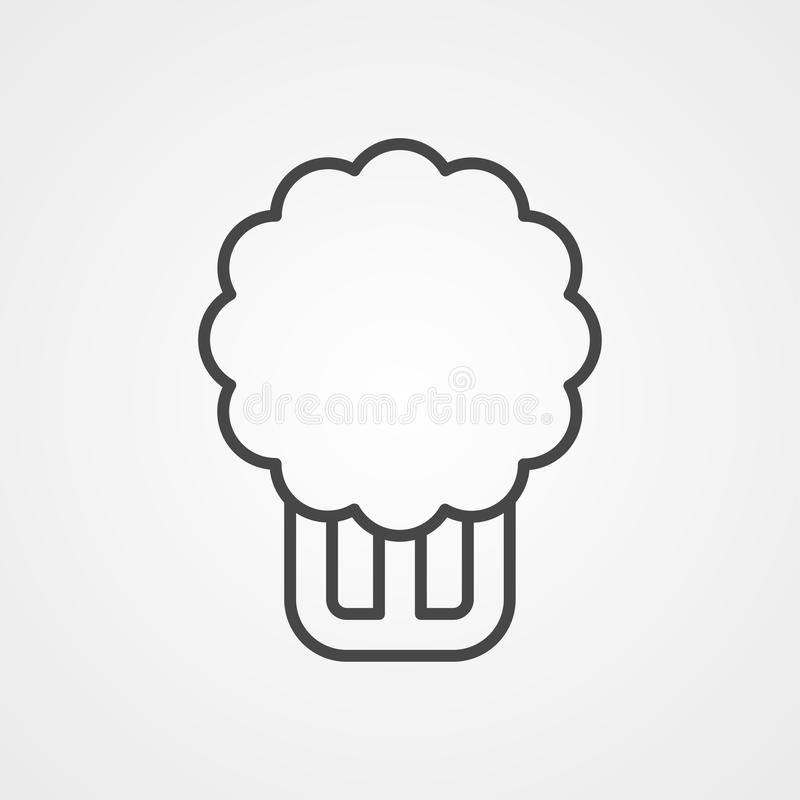 Celery vector icon sign symbol vector illustration