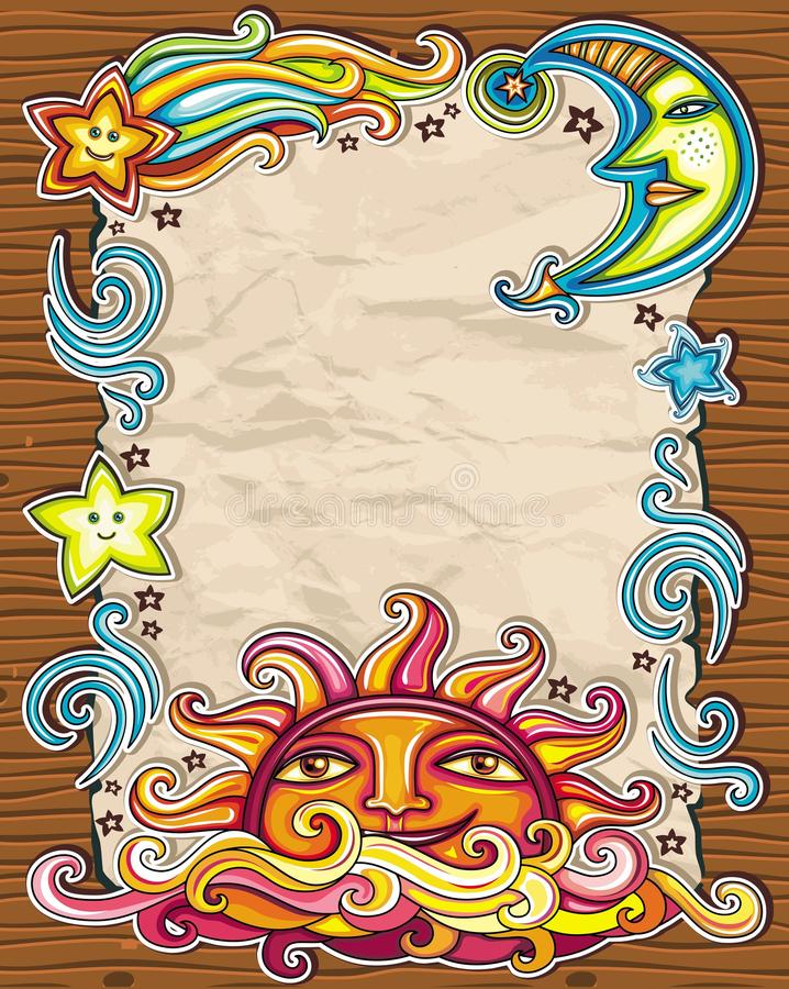 Download Celestial background stock vector. Image of banner, frame - 19980112