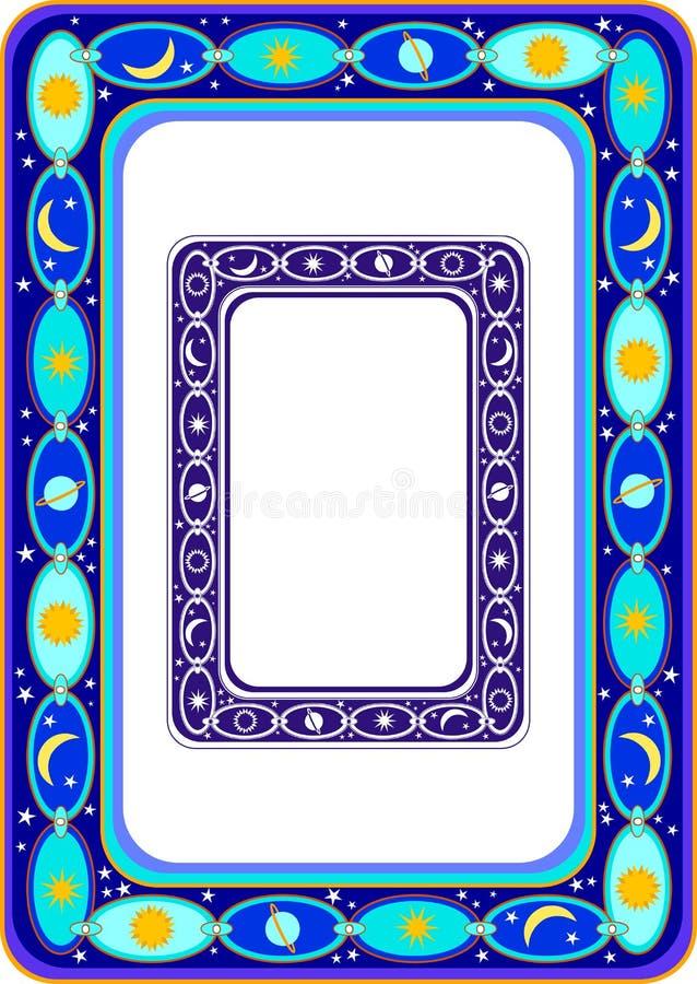 Celestial Border illustrazione di stock
