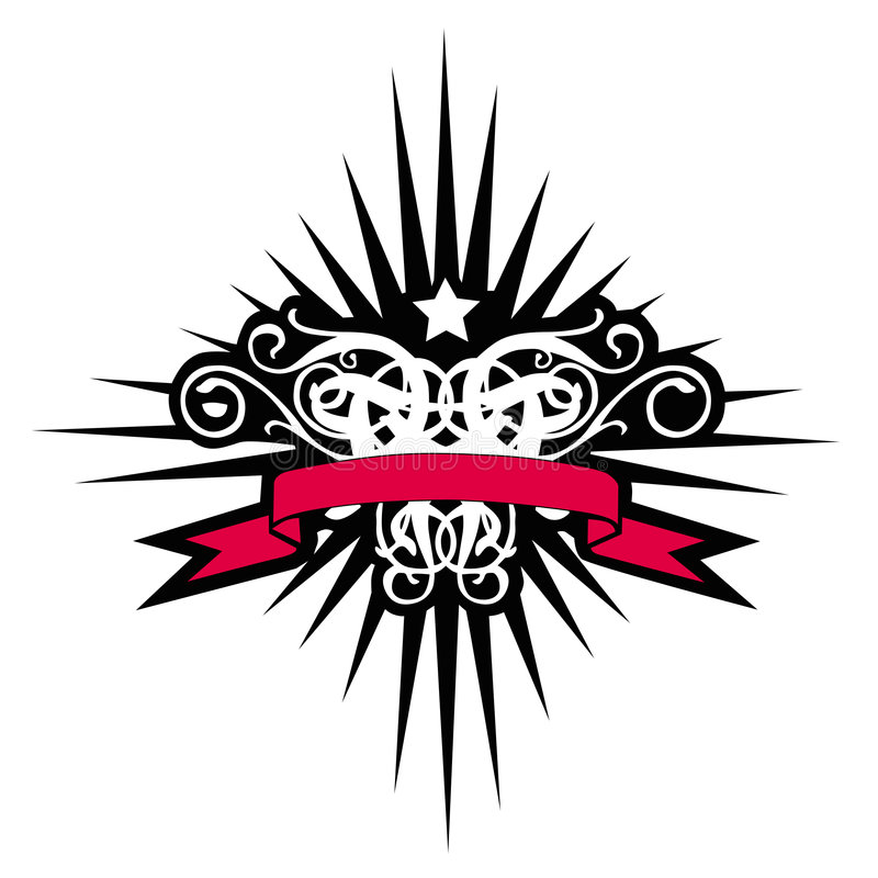Celestial Cross With Red Banner royalty free stock image