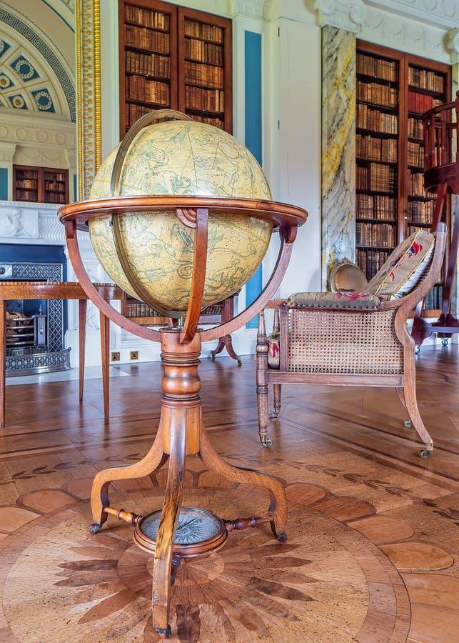 Celestial Globe, Camera di Sledmere, Yorkshire, Inghilterra fotografie stock