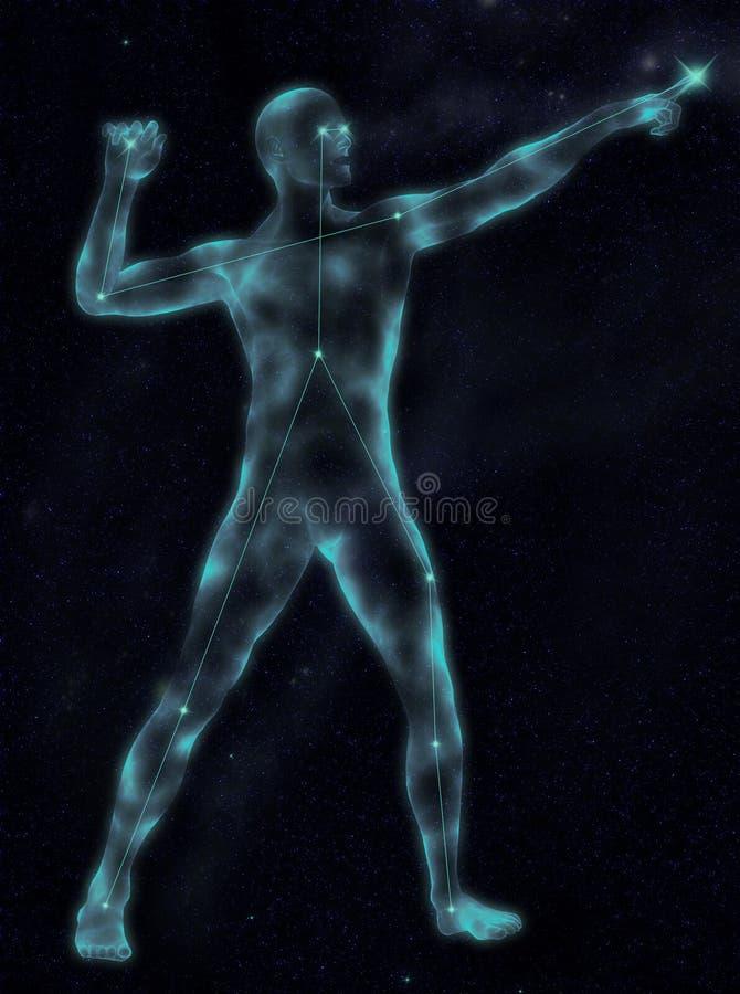 Celestial Guardian ilustração royalty free