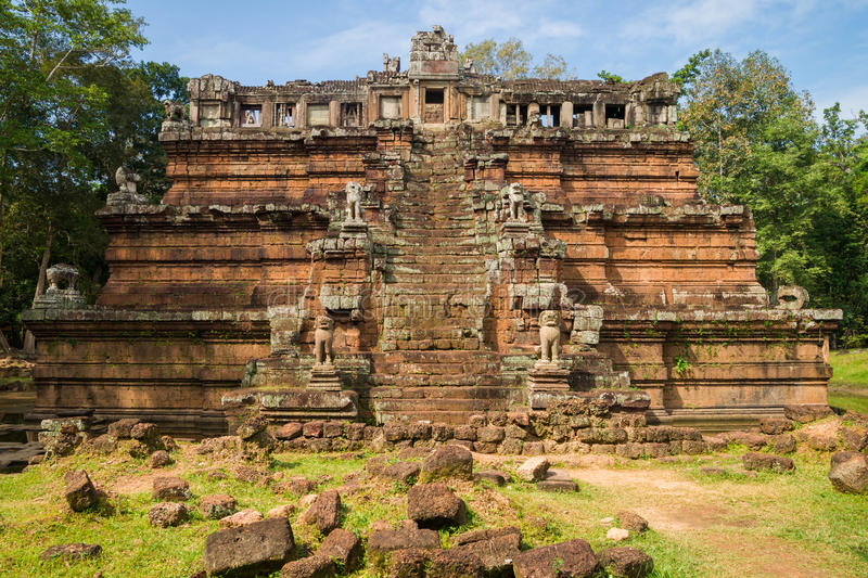 The celestial temple Phimeanakas royalty free stock photography