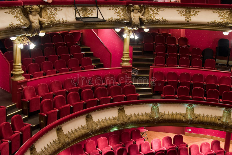 Celestins theater (Lyon) stock photography