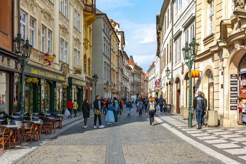 Celetna ulica w centrum stary miasteczko, Praga, republika czech obraz royalty free