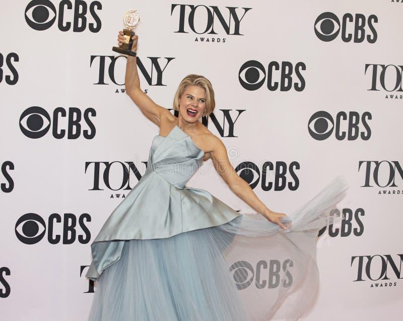 Celia Keenan-Bolger Celebrates Win på Tony Awards 2019 arkivbilder