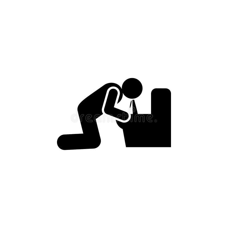 Celiac disease, puke, vomit icon. Element of celiac disease sings. Premium quality graphic design icon. Signs and symbols royalty free illustration