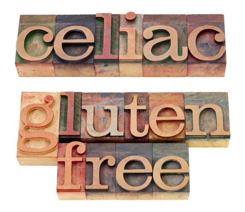 Celiaco y gluten libere foto de archivo