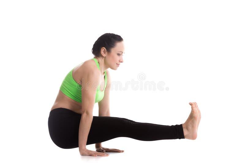 Celibate's yoga Pose stock image
